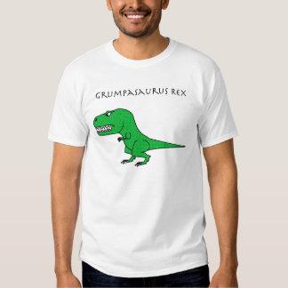 Grumpasaurus Rex Green Textured Tshirt