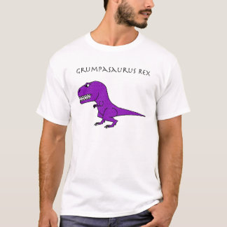 Grumpasaurus Rex Purple Textured T-Shirt