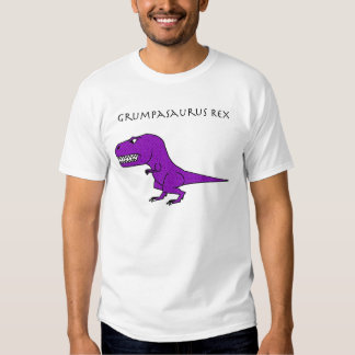Grumpasaurus Rex Purple Textured Tees