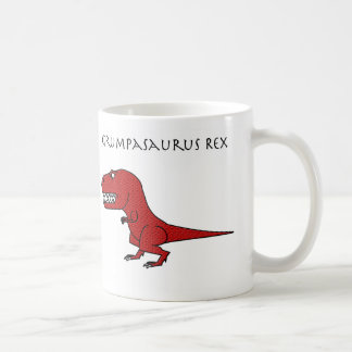 Grumpasaurus Rex Red Textured Mug