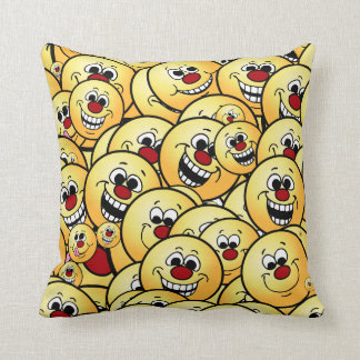 Grumpeys Happy Smiley Faces Set Cushion