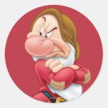 Grumpy 3 round stickers