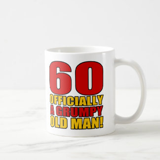 Grumpy 60th Birthday Humor Basic White Mug