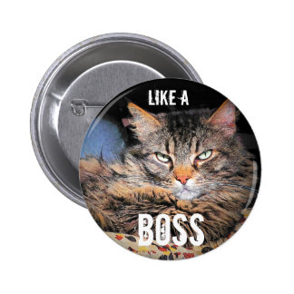 Grumpy Angel, Like A Boss 6 Cm Round Badge