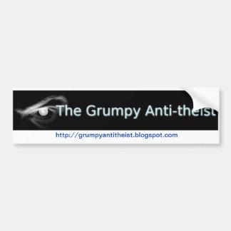Grumpy Antitheist bumper sticker