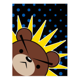 Grumpy Bear Roar Postcard