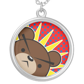 Grumpy Bear Roar Silver Plated Necklace
