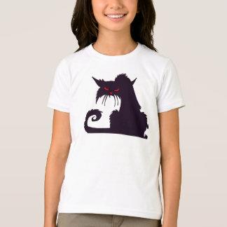Grumpy Black Cat Girls T-Shirt