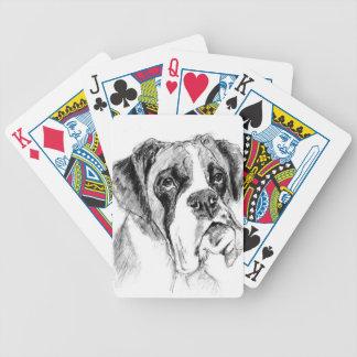 Grumpy boxer poker deck