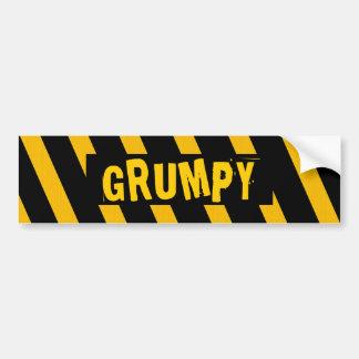 Grumpy bumper sticker car bumper sticker