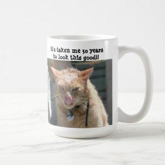 Grumpy Cat, 30 years to look this good! Basic White Mug