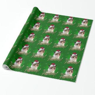 Grumpy Cat Bah Humbug Wrapping Paper