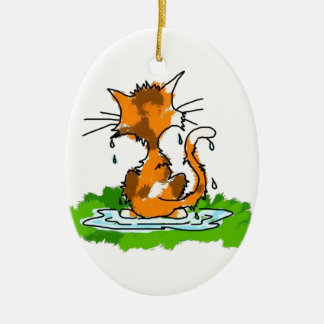 Grumpy Cat Christmas Ornament