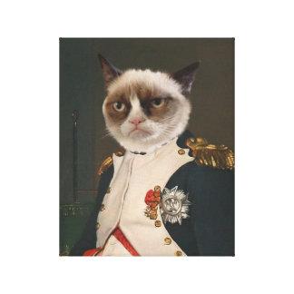 Grumpy Cat Classic Painting Canvas Print