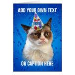 Grumpy Cat Customizeable Happy Birthday Greeting Card