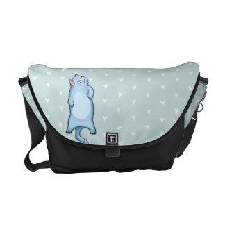 Grumpy Cat George hearts Medium Messenger Bag