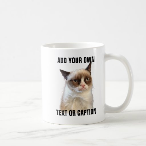 Grumpy Cat Glare - Add your own text Mugs