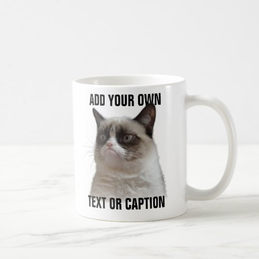 Grumpy Cat Glare - Add your own text Mugs