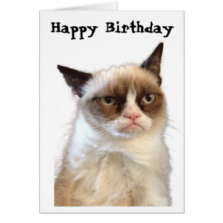 Grumpy Cat Happy Birthday Card