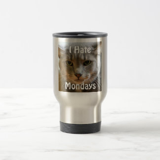 Grumpy Cat Hates Mondays Travel Mug