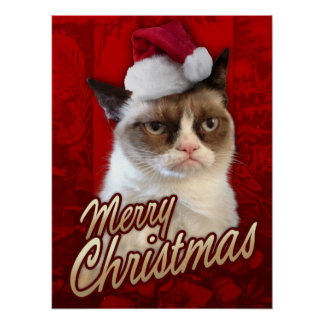Grumpy Cat Merry Christmas Poster