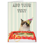 Grumpy Cat Party Greeting Card - Customisable