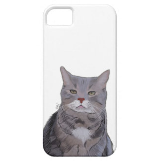 Grumpy Cat Phone Case, Cat Illustration Case For The iPhone 5