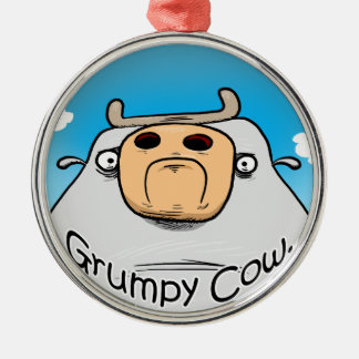 Grumpy Cow Christmas Ornament