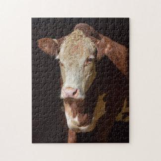 Grumpy Cow Jigsaw Puzzle