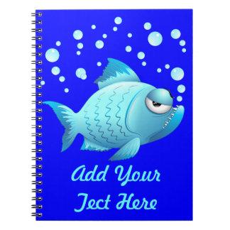 Grumpy Fish Cartoon Notebooks