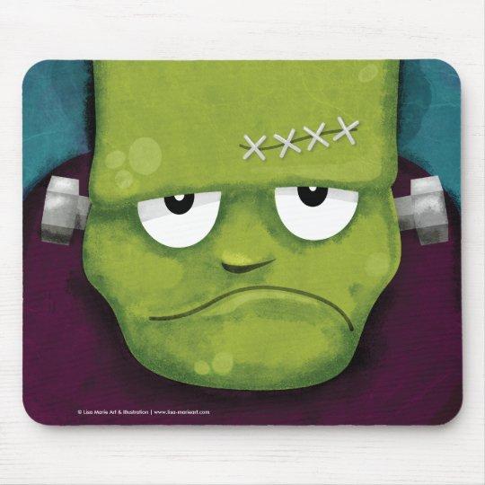 Grumpy Frankenstein Halloween Mousepads