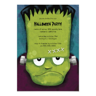Grumpy Frankenstein Halloween Party Invitation