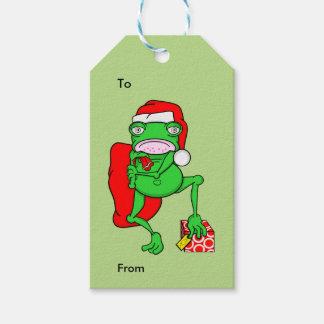 Grumpy Funny Christmas frog Gift Tags