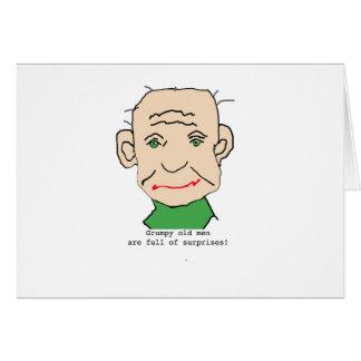 Grumpy Funny Old Man Greeting Card