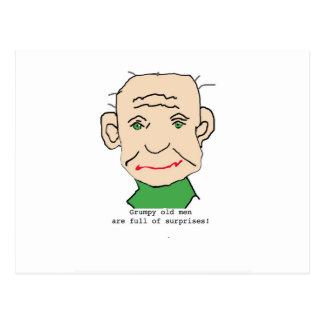 Grumpy Funny Old Man Postcard