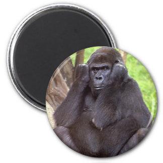 Grumpy Gorilla 6 Cm Round Magnet