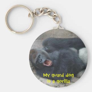 Grumpy Gorilla Basic Round Button Key Ring