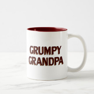 Grumpy Grandpa Two-Tone Coffee Mug