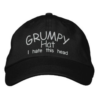 Grumpy HAT Embroidered Baseball Cap