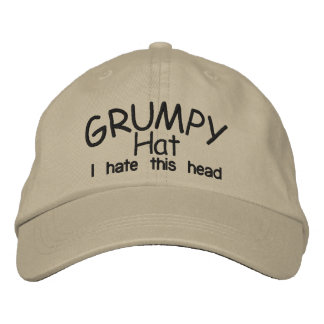 Grumpy HAT Embroidered Hats