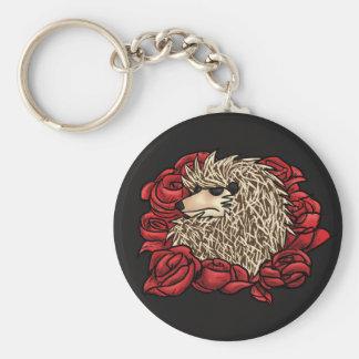 Grumpy Hedgehog Keychain