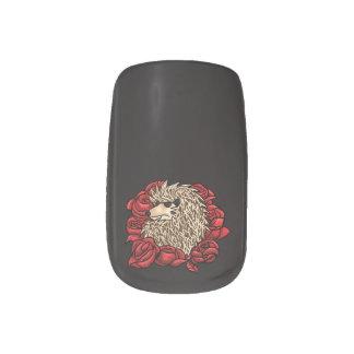 Grumpy Hedgehog Nail Art