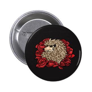 Grumpy Hedgehog Pin