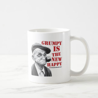 Grumpy is the new happy basic white mug