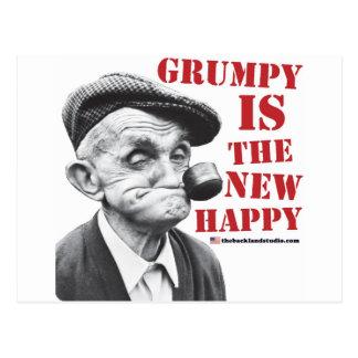 Grumpy is the new happy postcard