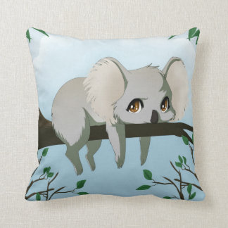 Grumpy koala bear cushion