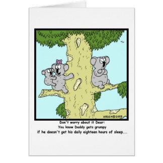 Grumpy Koala Card