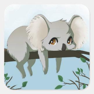 Grumpy Koala Square Sticker