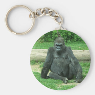 Grumpy Lowland Gorilla Key Ring