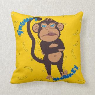 Grumpy Monkey Cushion